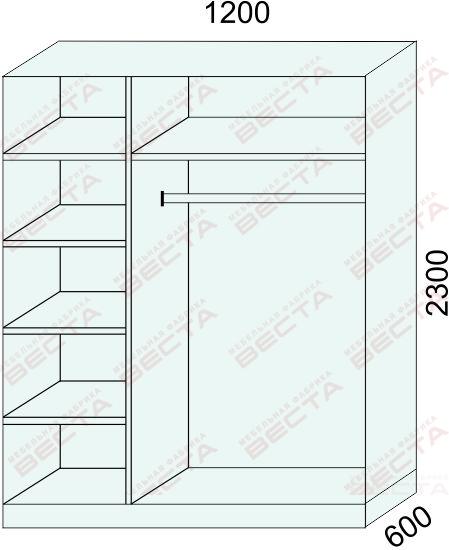 Шкаф 1200мм-8