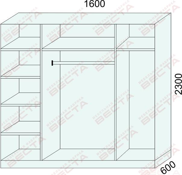 Шкаф 1600мм-3