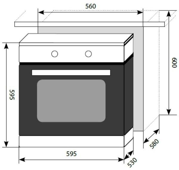 Духовой шкаф EDM 041 BL-2