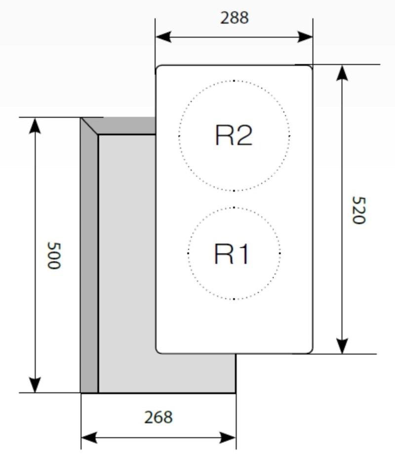 Электрическая варочная поверхность LEX EVH 320 BL-2