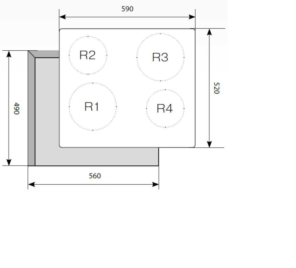 Электрическая варочная поверхность LEX EVH 640 BL-2