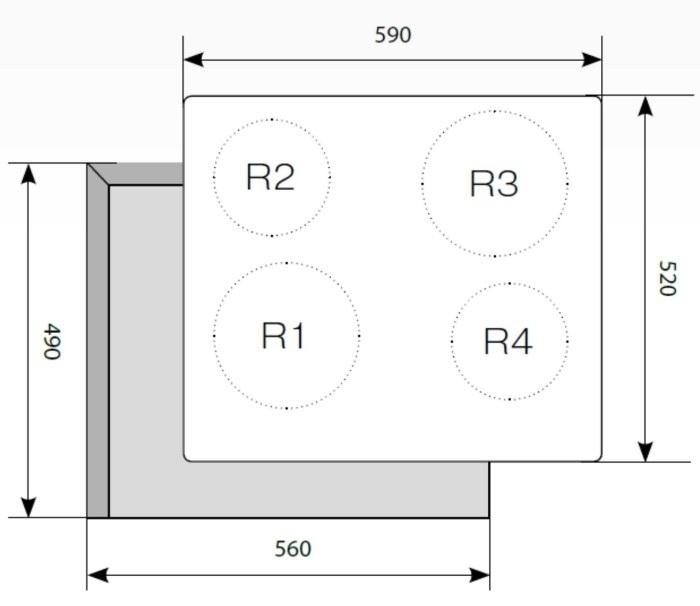Электрическая варочная поверхность LEX EVH 640 WH-2