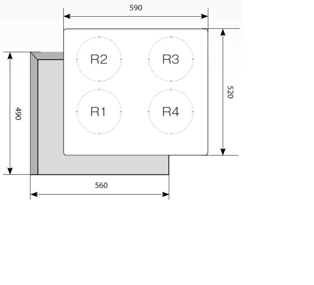 Электрическая варочная поверхность LEX EVH 640-1 BL-2