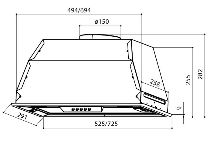 Встраиваемая вытяжка  LEX GS BLOC P 900 BLACK-2