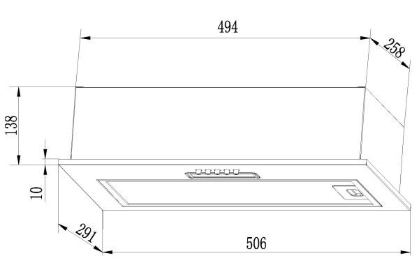 Встраиваемая вытяжка Lex GS Bloc Light 600 Inox-1