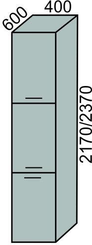 Пенал 3 двери 400мм в 2170мм (2)