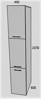 Пенал 3 двери 400мм в 2370мм (2)