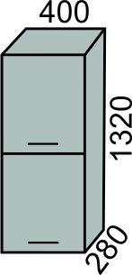 Полупенал 2 двери 400мм в 1320мм (2)