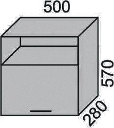 Шкаф печной 500х570 с нишей (2)