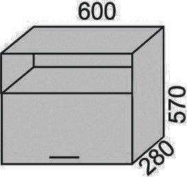 Шкаф печной 600х570мм с нишей (2)