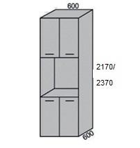 Пенал под технику 4 двери 600мм в 2170мм (2)