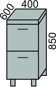Стол с 2 ящиками 400мм(2)