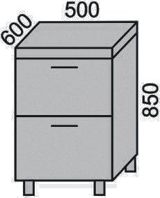 Стол с 2 ящиками 500мм(2)