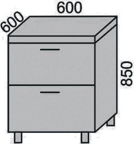 Стол с 2 ящиками 600мм(2)