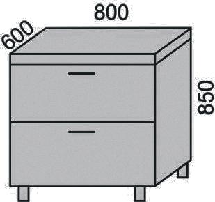 Стол с 2 ящиками 800мм(2)