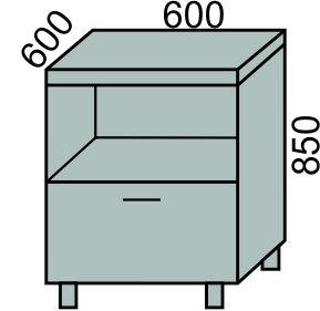 Стол под МВ с 1 ящиком 600мм (2)