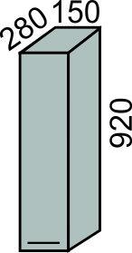 Шкаф 150х920мм(2)