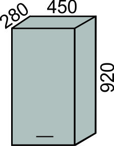 Шкаф 450х920мм (2)
