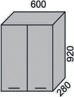 Шкаф 600х920 мм(2)