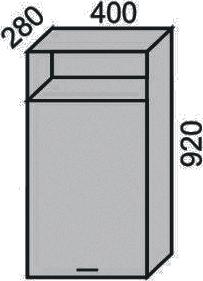 Шкаф 400х920мм с нишей(2)