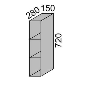Шкаф с полками 150мм (2)