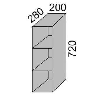 Шкаф с полками 200мм (2)