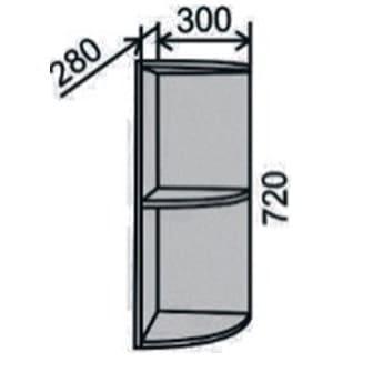 Шкаф радиусный 300мм (2)