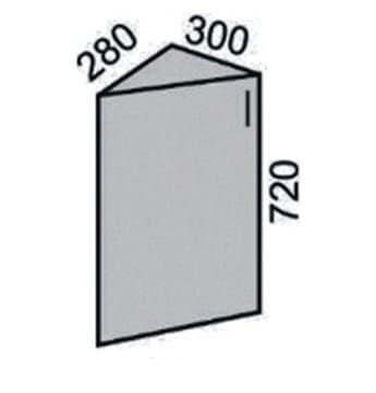 Шкаф торцевой с фасадом 300мм (2)
