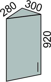 Шкаф торцевой с фасадом 300х920мм (2)
