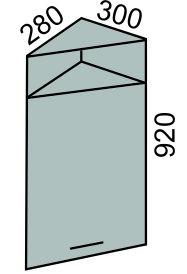 Шкаф торцевой с фасадом 300х920мм с нишей (2)