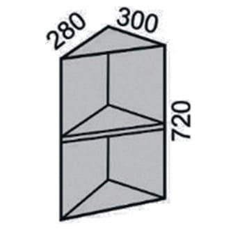 Шкаф торцевой без фасада 300мм (2)