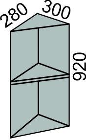 Шкаф торцевой без фасада 300х920мм (2)