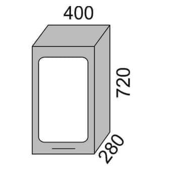 Шкаф-витрина 400мм (2)