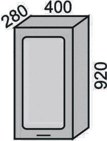 Шкаф-витрина 400х920мм (2)