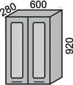 Шкаф-витрина 600х920мм(2)
