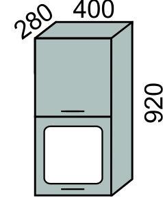 Шкаф-витрина горизонтальный 400х920мм (2)