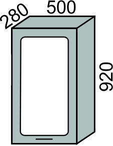 Шкаф-витрина с сушкой 500х920мм (2)