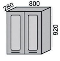 Шкаф-витрина с сушкой 800х920мм (2)