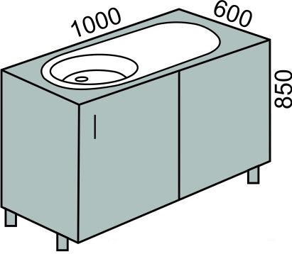 Стол приставной 1000мм (2)