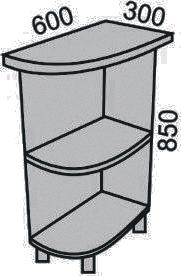 Стол торцевой радиусный 300мм(2)