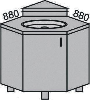 Стол угловой 900мм (с подиумом) (2)
