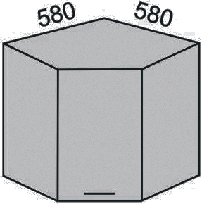 Шкаф угловой 580мм (2)