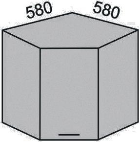 Шкаф угловой 580-920мм (2)