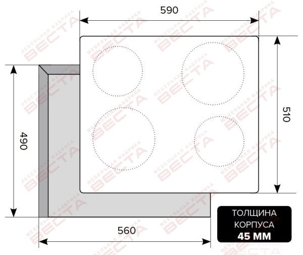Электрическая варочная поверхность LEX EVE 640 WH-2