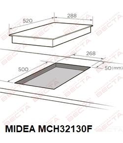 Электрическая варочная поверхность стеклокер. MIDEA MCH32330FX-2