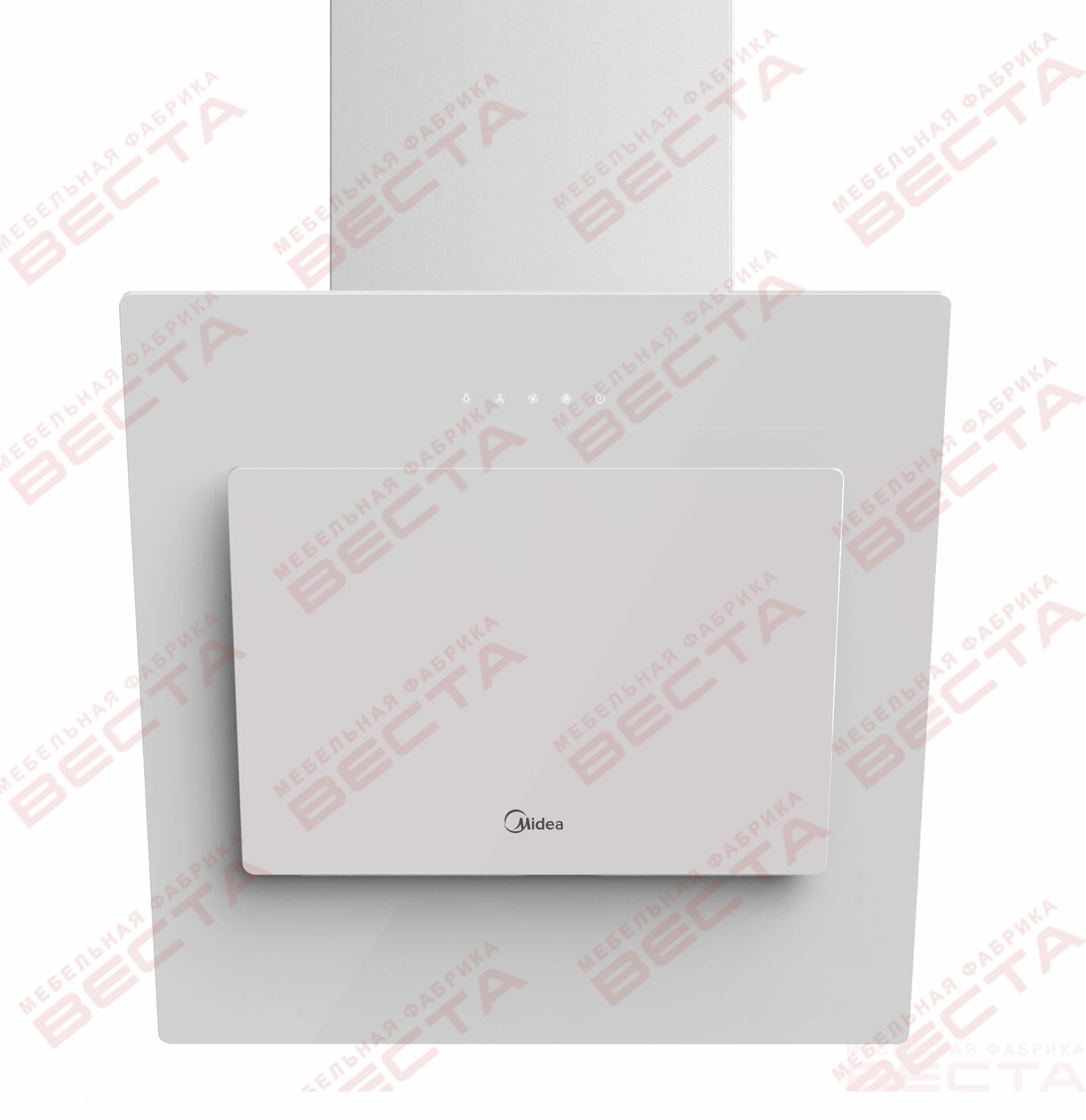 Вытяжка наклонная MIDEA MH60AN595GB, 60 см, без угольн. фильтра, черный/черное стекло/белое стекло-2